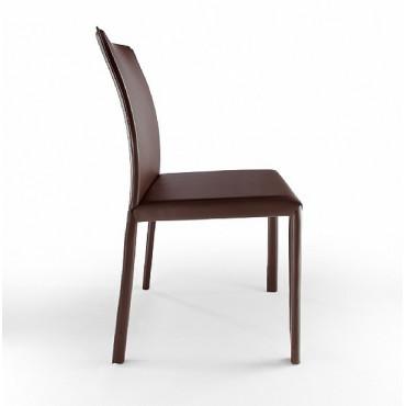 2 sedie in cuoio mod. XL