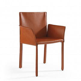 Chair with leather armrests...