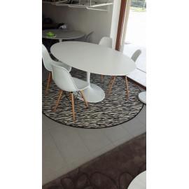 PROMOZIONE 4 Sedie DSW e tavolo tulip Eero Saarinen ovale CM 179X111