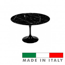 Table Tulip Eero Saarinen round black marble marquinia