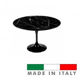 Tavolo Tulipano rotondo marmo nero Marquinia