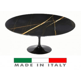 Table Tulip Eero Saarinen OVALE Black Marble Guinea