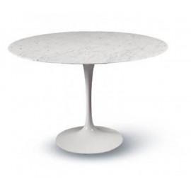 Tavolo tulip Eero Saarinen rotondo Diam CM 120 Marmo Carrara