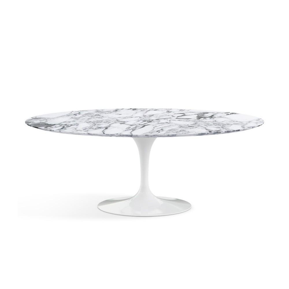 Tavolo tulip ovale in marmo arabescato - Tavolo ovale marmo bianco ...