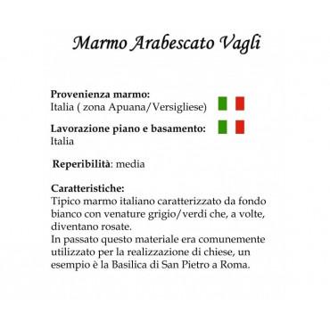 TAVOLO TULIP ROTONDO ARABESCATO VAGLI