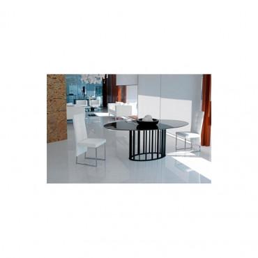 Tavolo ellittico in vetro temperato mod. Embassy