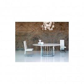 Tavolo ellittico in marmo o laminato mod. Embassy