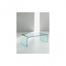 Tavolino cristallo curvato mod. Regolo