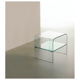 Glass bedside curved mod....