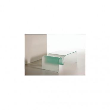 Tavolino cristallo curvato mod. Wave