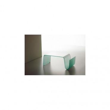 Tavolino cristallo curvato mod. Onda