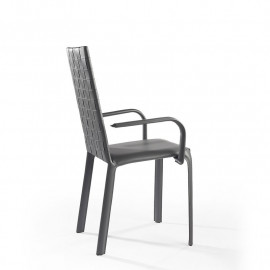 Chair with armrests weaving...